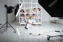 "Advertising shooting for the medical center ""Slim Clinic"" Backstage"
